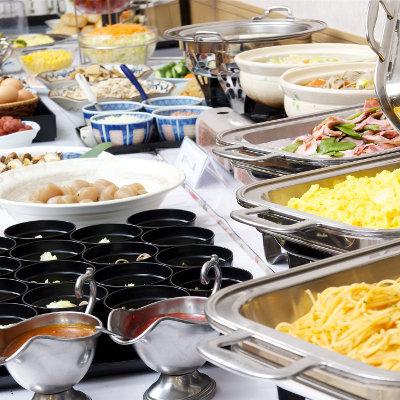 【朝食付き】2019年10月〜2名1室利用 和洋ビュッフェの朝食で元気ヤマモリ♪