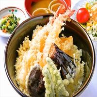 【2食付き】2名1室利用 大きな海老の天丼セット♪