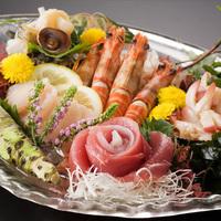 【刺身大皿盛り】『旬の鮮魚盛り合わせ』豪華グレードアップで贅沢気分♪海鮮好きにおススメ!