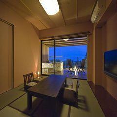【直前割Plan】 解放感あふれる露天風呂付のお部屋&お食事は個室お食事処で愉しむ