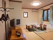 広々の離れ洋和室(一戸建て)で超贅沢に。 露天風呂も貸切OK