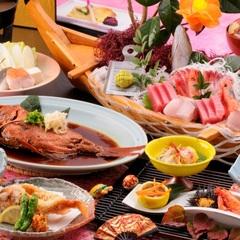 迷ったらコレ!!!地魚の舟盛+稲取名物!金目鯛の姿煮 【味の宿喜久多推奨プラン】