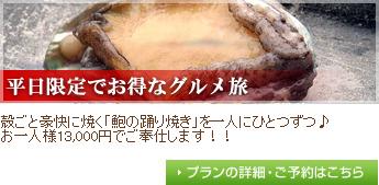 【平日限定】鮑踊り焼き付き13000円