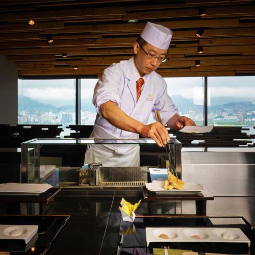 【2食付:厳選ディナーコース】◆天ぷら◆揚げたての長崎の新鮮な海の幸、季節の野菜を存分に堪能