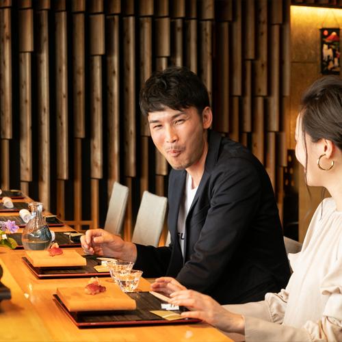 【2食付:厳選ディナーコース】◆鮨会席◆車海老や壱岐牛をはじめ、厳選した食材が織りなす長崎の逸品