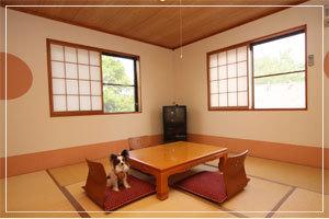 ペットと泊まれる★7.5畳の和室