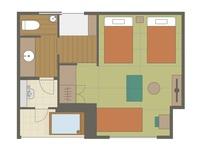 【別邸水の語り部35平米】トリプル・半露天風呂付客室●禁煙