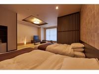 【羊蹄山側】展望風呂付デラックス和洋室(48平米)◇禁煙