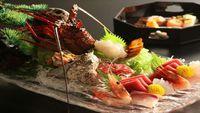 【春夏旅セール】新鮮伊勢えび&あわびや牛肉陶板焼きが味わえる贅沢な海詩プラン<1泊2食付>