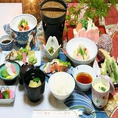 美食プラン  大好物を選べる【上州牛ステーキ・たらば蟹・馬刺】電話予約で10%割引または1品追加
