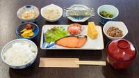 【朝食付き】ごはん&味噌汁お替り自由!ドリンクバー付き和食膳で1日をスタート♪