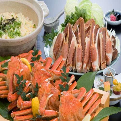 【姿蟹一匹×カニすき鍋】定番カニ料理、どっちも食べちゃえ!<季節の和懐石+姿蟹と大鍋カニすき>