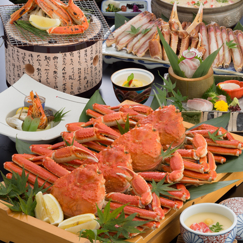 【蟹満腹コース】姿蟹・焼き蟹・蟹すき鍋・・カニ尽くし!旬の蟹をフルコースで堪能♪