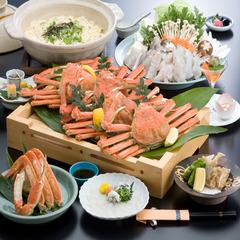【蟹すき+焼きふぐorてっちり+焼き蟹】★お好みでチョイス!どっちも楽しめる<蟹ふぐコース>