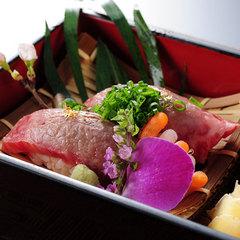 【記念日のお祝いに】大切な記念日を大切な人と贅沢に過ごす★牛炙り寿司&ケーキ又はフルーツ盛り付♪