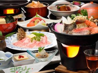 平日限定♪メインは「鱈と鮭と海老の海鮮寄せ鍋」と「豚トロ陶板焼き」 宴(うたげ)プラン