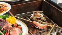 女将おすすめ庄内めぐみのバイキングと新鮮な魚介類の囲炉裏焼きがさらに!味わえる!!