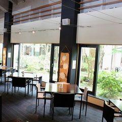 ≪朝食付プラン≫中庭を眺める緑の空間で、地元の旬野菜を使った健康朝ごはん!和・洋選べます!