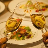 【カップルプラン】フレンチコース&乾杯シャンパンで華やかデート☆デザートに記念メッセージ♪(2食付)