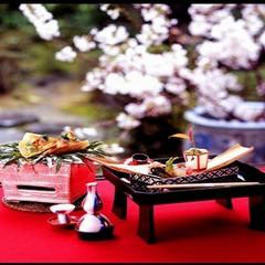 ◇期間限定◇桜花会席プラン【紅ずわい蟹の桜蒸し・但馬牛ロース・鮑の遠山焼き】【さき楽】