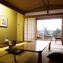 夕陽◆和室 11畳◆禁煙◆1階