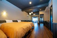 【新館】広い露天風呂付洋室 58m2 4ベッド 庭付