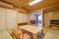 【新館】露天風呂付和洋室 グループ 和室8畳+2ベッド
