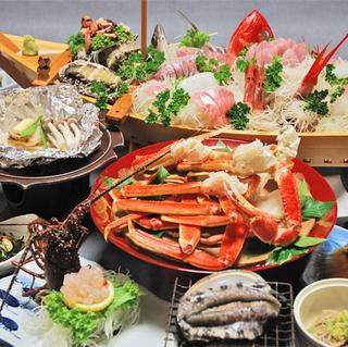 当館イチ豪華な、水軍海賊盛り+アワビ踊り焼きプラン【¥16、000】
