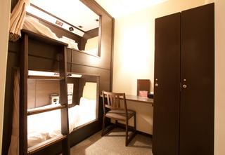 【2段ベッド】ツインルームキャビン 【男性用】Wi-Fi完備