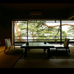 【老松を望む★新客室にお得に泊まる!】露天風呂付き!貴賓室でこだわりの月替わり会席をお部屋食