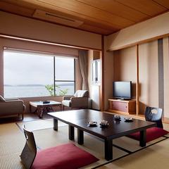 基本客室:庭向き(海が少し見える)【食事会場:レストラン】