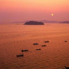 【カップルプラン】海の中に沈む夕日を見ながら寛ぎの空間に♪■夕波の膳■