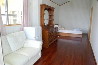 B洋室12畳Wベッド1台にロフト付素泊まりプラン格安現金特価