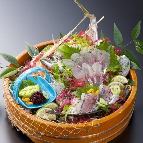 長寿祝い・誕生日・結婚記念日に!関あじの姿造り付プラン