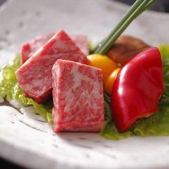 【料理人気ナンバーワン】霜降り和牛溶岩ステーキと金目鯛のあたみ煮がメイン♪ お料理ランクUPプラン