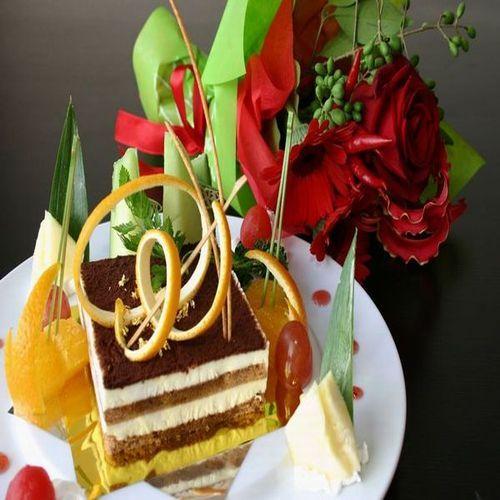 【露天風呂付き客室で記念日を】特典☆ケーキ&花束Present〜お部屋食〜
