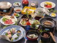 【人気No.1】新鮮な海の幸・山の幸を盛り込んだ彩り豊かな京風懐石料理【LUX SELECTION】