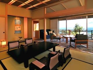 眺めの良い最上階【DX和洋室】和室10帖+ツインベッドルーム