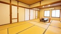 【和室2F・16畳・トイレ付】部屋食&貸切風呂で安心ステイ♪