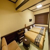 【禁煙】「和トリプル」シングルベッド3台+バス付(30平米)