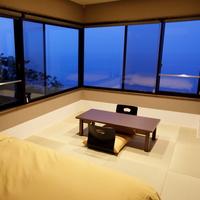 【海側カジュアル】禁煙◆角部屋和室+寝室 半露天風呂付き客室
