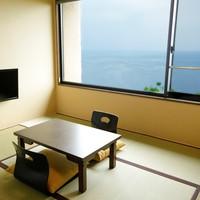 【海側カジュアル】《喫煙》 和室6畳 半露天風呂付き客室