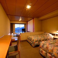 和洋室A【和室6畳+2ベッド】宴会用(喫煙)