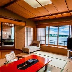 【幻想的な湖を望む】源泉100%!露天風呂付き純和風客室