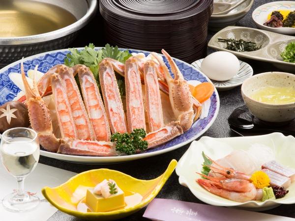 魚のお造り付き!カニスキ梅プラン★貸切風呂無料!外湯入り放題!