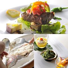 【美味グルメ◆海と大地のフルコース】 新鮮魚介と朝摘み野菜をふんだんに 「自然の旨み」に満たされる夜