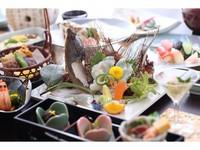早期割50【贅沢にお魚を味わう】小豆島・四季の地魚の特選会席『海』 〜島の季節を彩り豊かに食す〜
