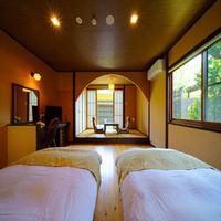◆専用露天風呂・内湯付き離れ 和洋室 〜ウッドデッキ付き〜