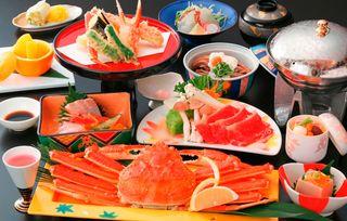♪貸切露天風呂「槙の湯」&1ドリンク付♪茹で蟹1枚付会席