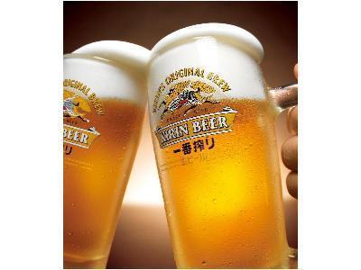 【当館人気】平日限定☆キリン一番搾り生ビール1杯サービス